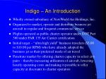 indigo an introduction