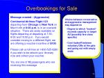 overbookings for sale