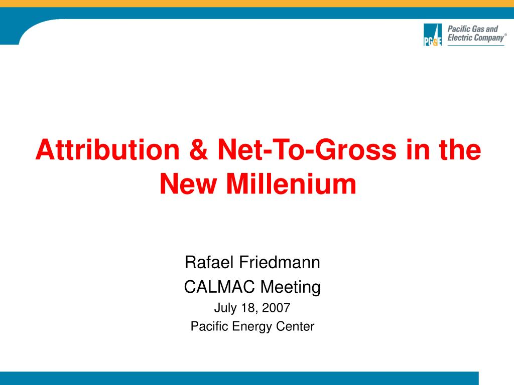 Attribution & Net-To-Gross in the