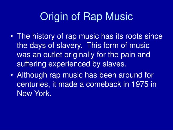 Origin of rap music