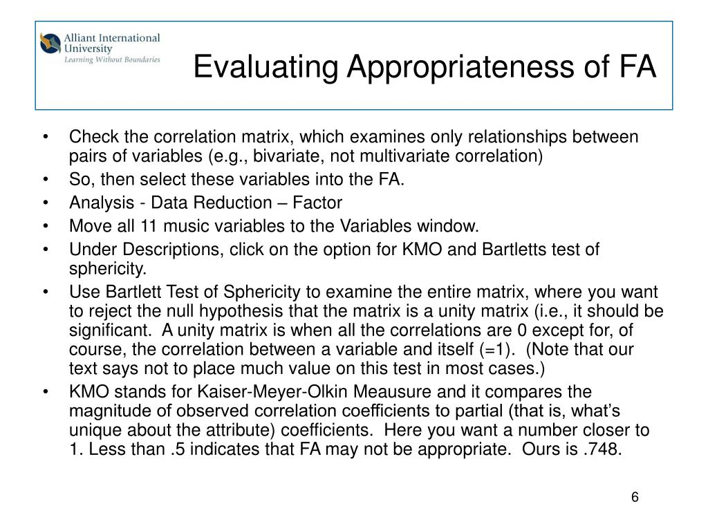 Evaluating Appropriateness of FA