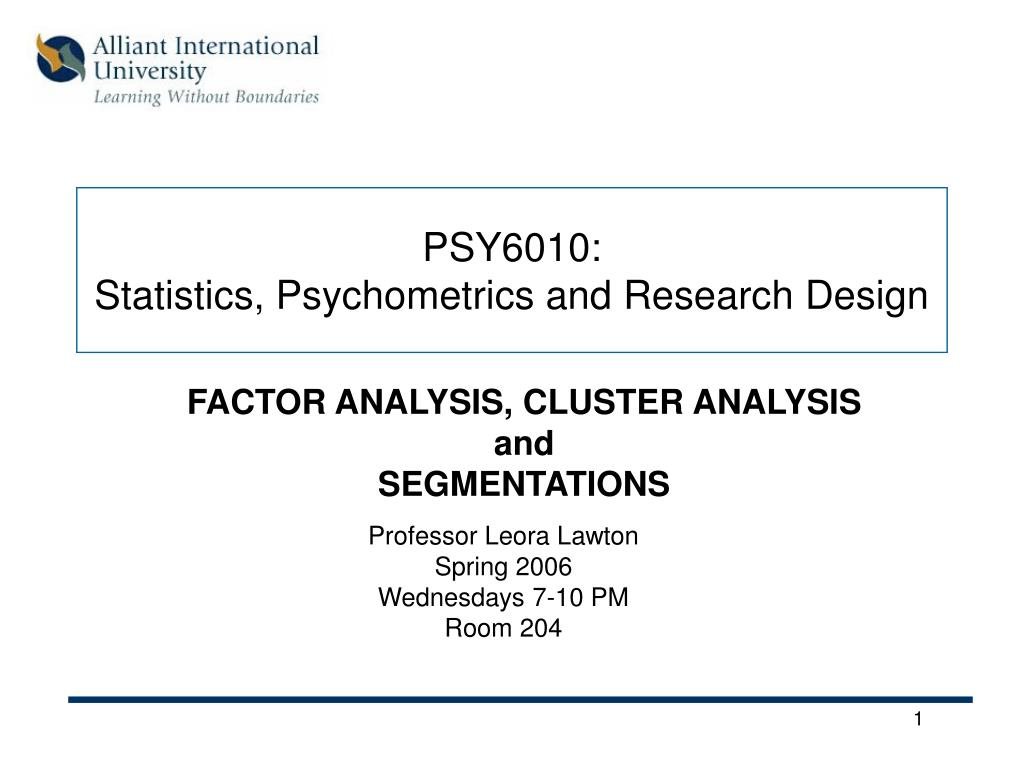 psy6010 statistics psychometrics and research design