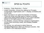 spss for pca fa