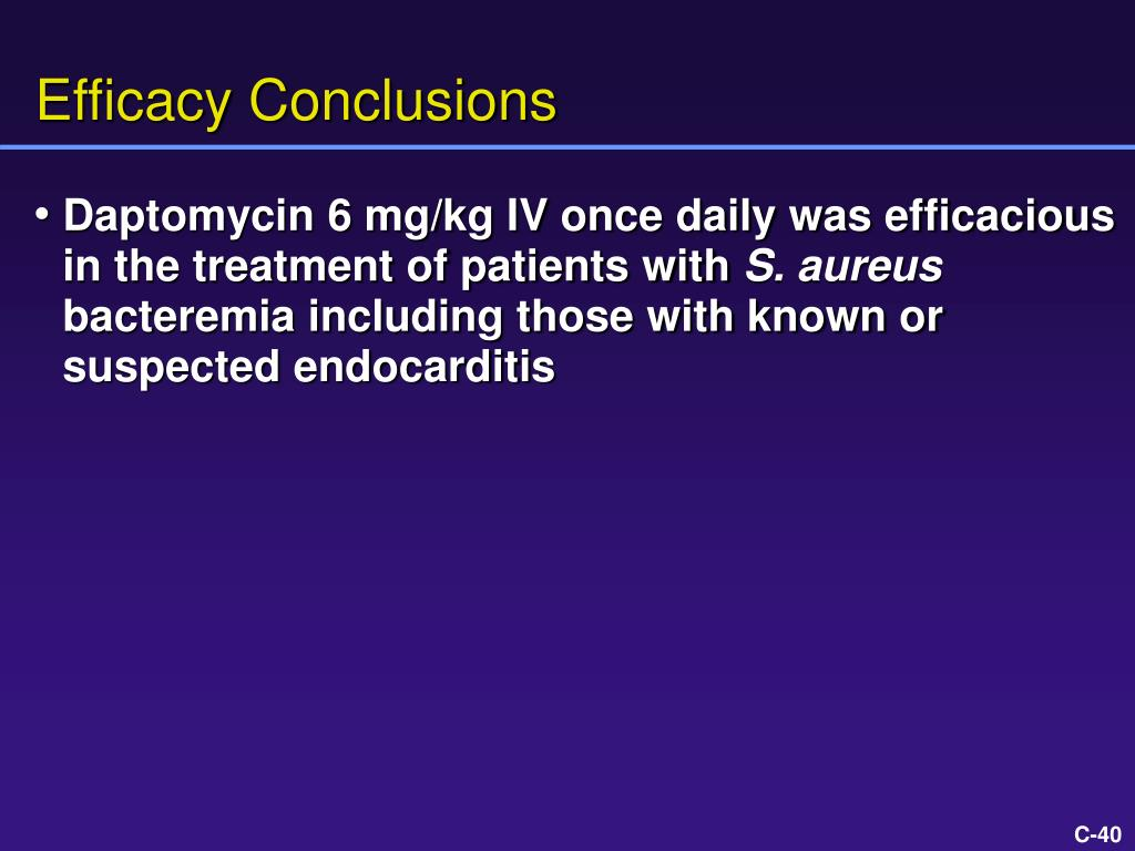 Efficacy Conclusions