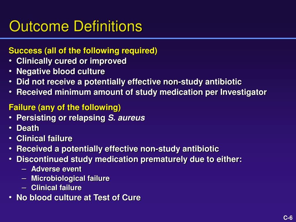 Outcome Definitions
