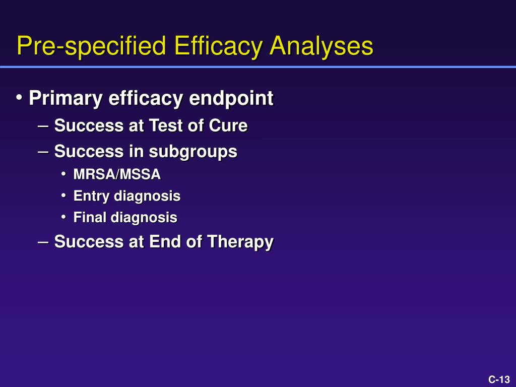 Pre-specified Efficacy Analyses