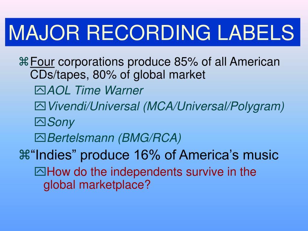 MAJOR RECORDING LABELS