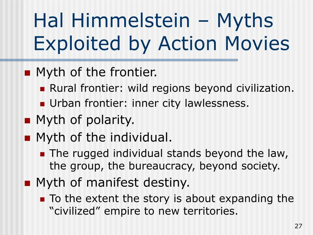 Hal Himmelstein – Myths Exploited by Action Movies