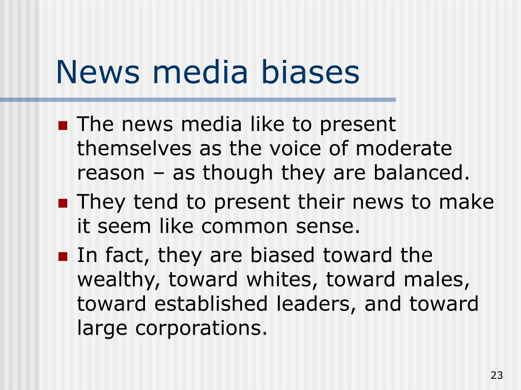 News media biases