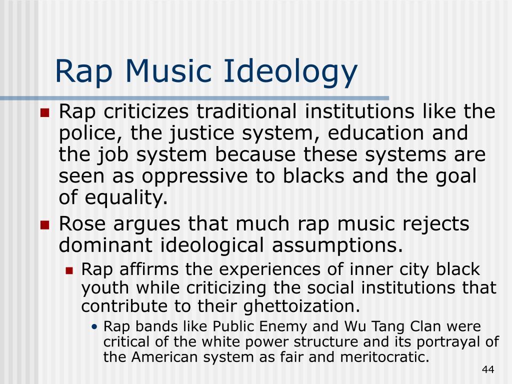 Rap Music Ideology