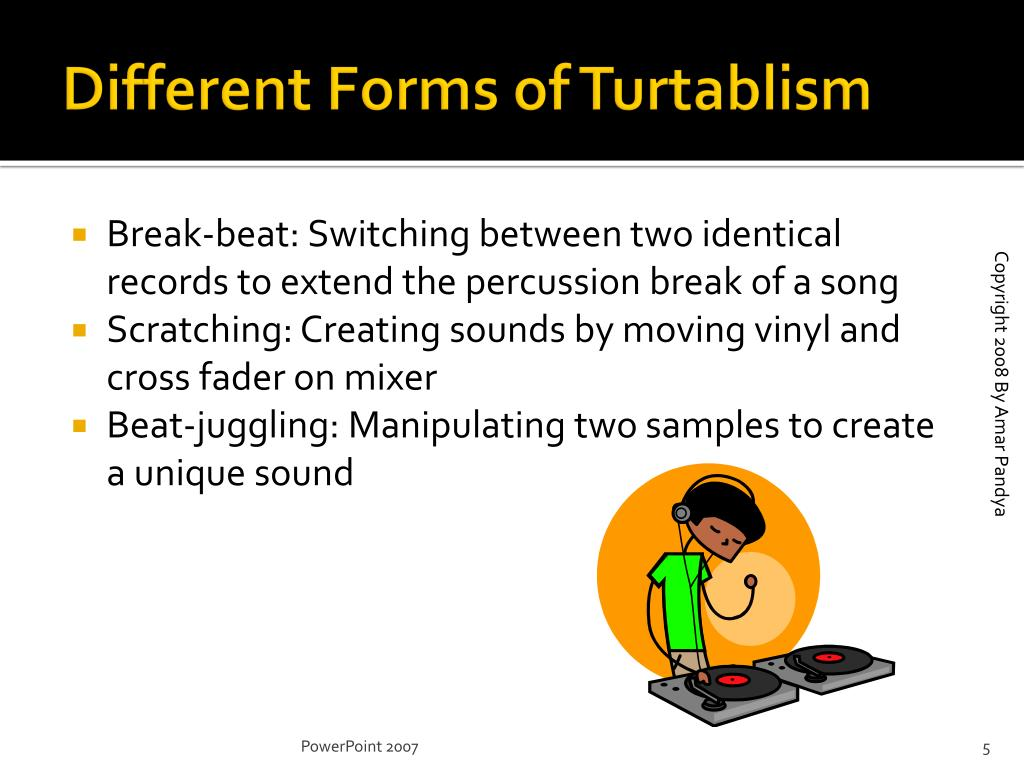 Different Forms of Turtablism