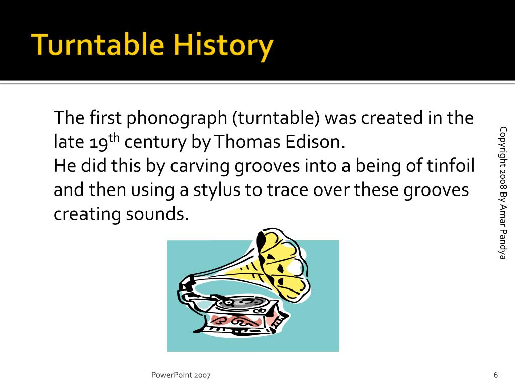 Turntable History
