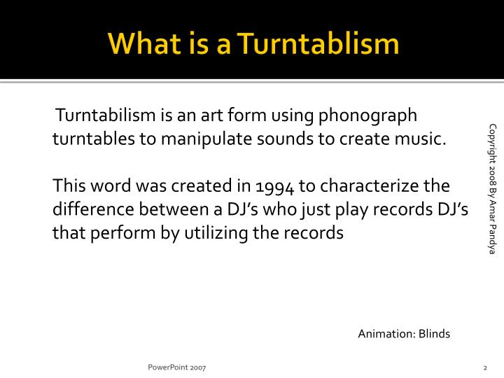 What is a turntablism