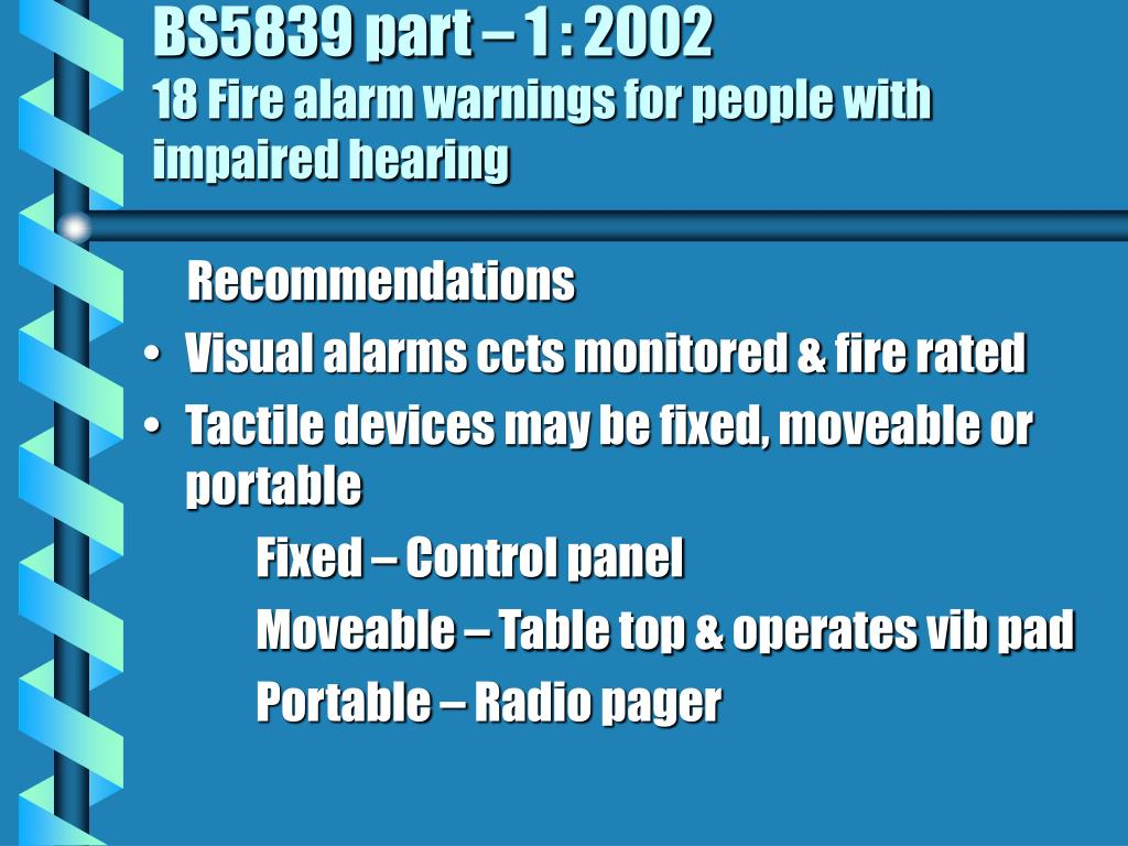 BS5839 part – 1 : 2002