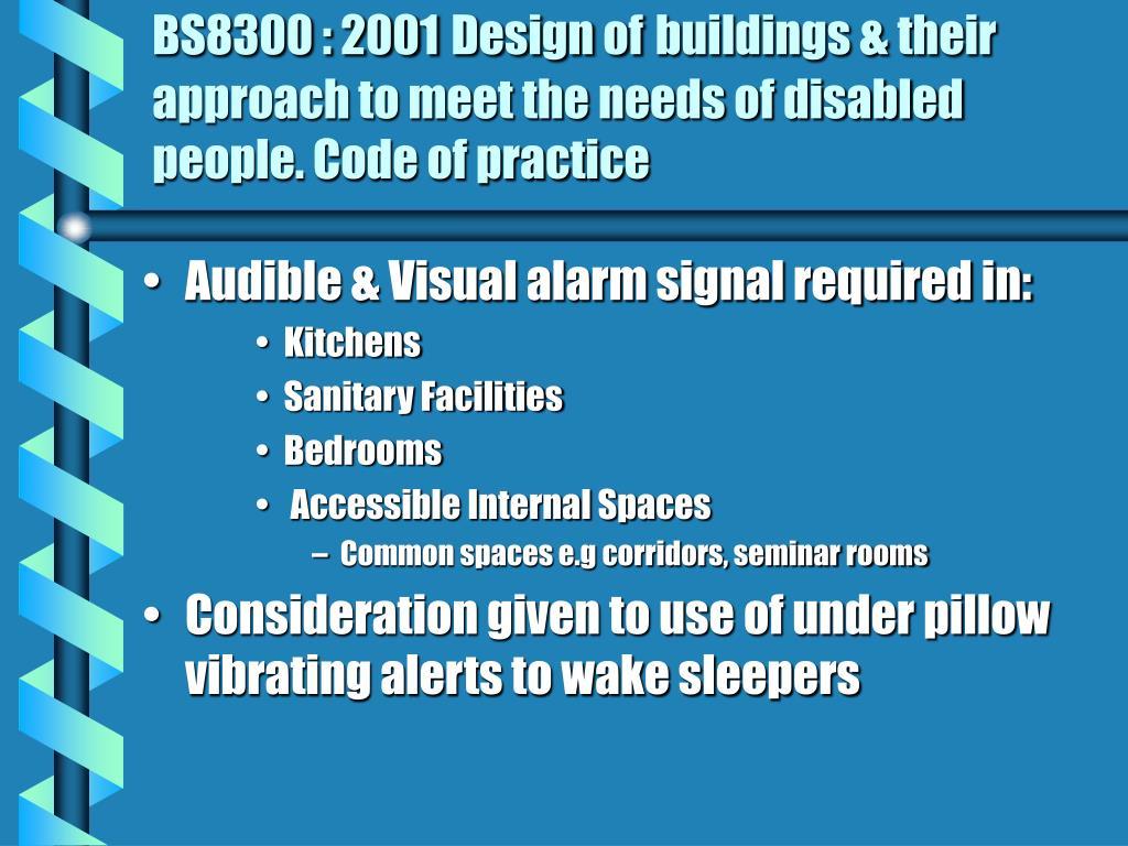 BS8300 : 2001
