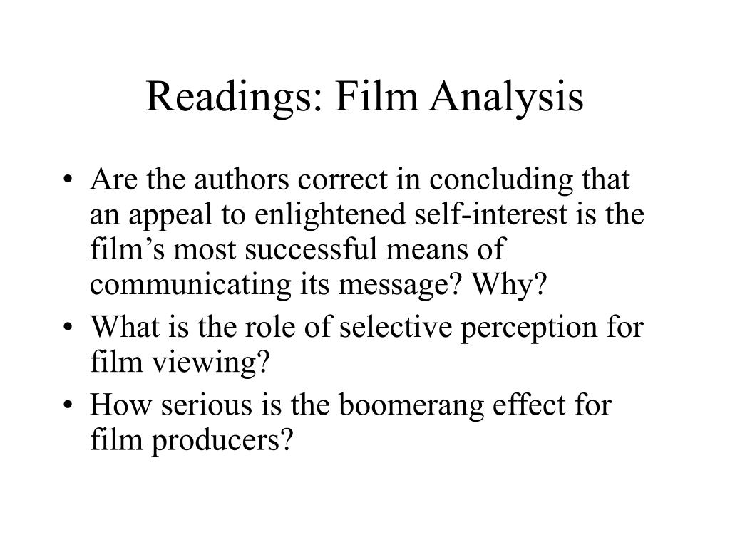 Readings: Film Analysis