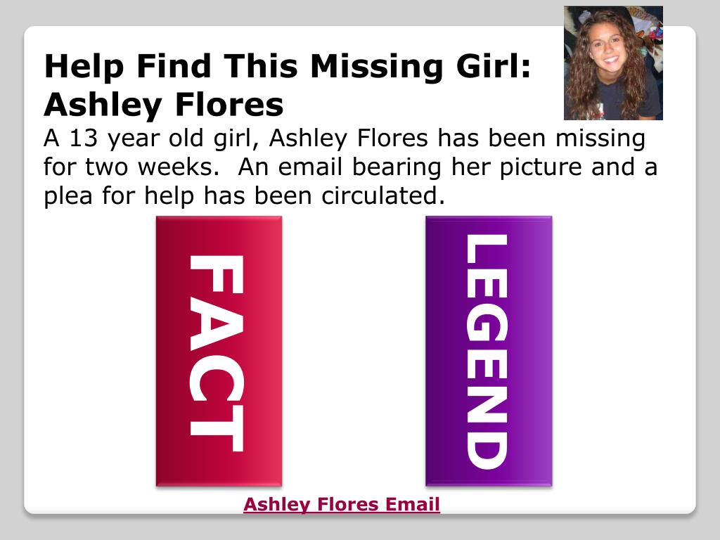 Help Find This Missing Girl:  Ashley Flores