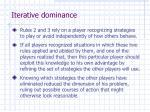 iterative dominance