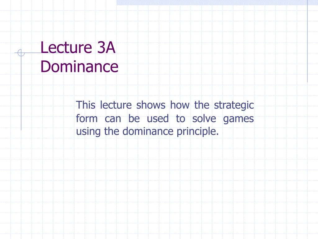 Lecture 3A
