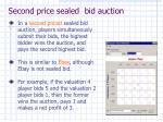 second price sealed bid auction