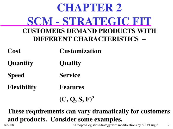 Chapter 2 scm strategic fit