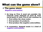 what can the game show13