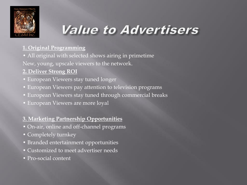 Value to Advertisers