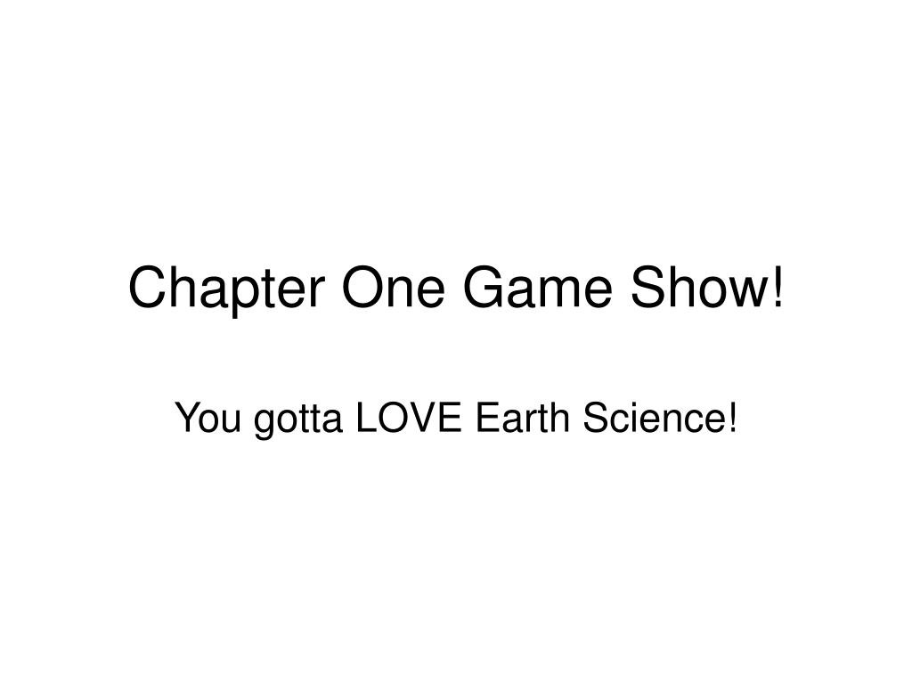 chapter one game show