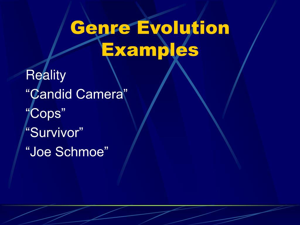 Genre Evolution Examples