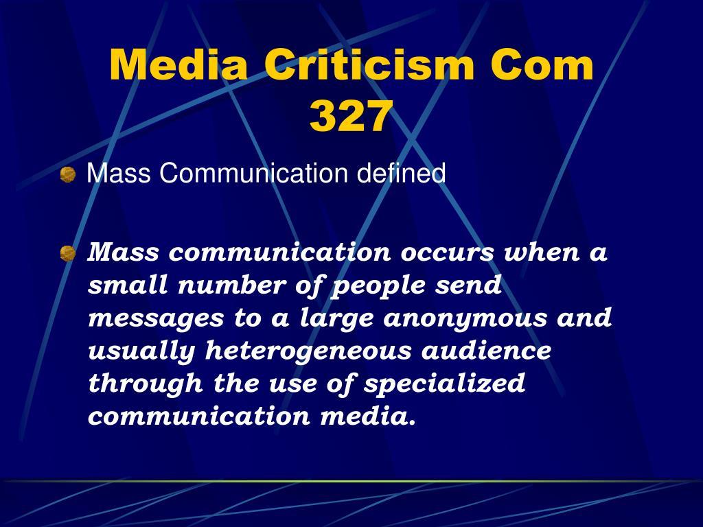 Media Criticism Com 327
