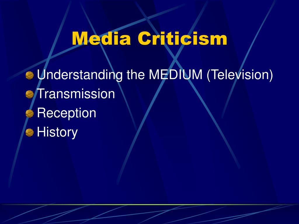 Media Criticism