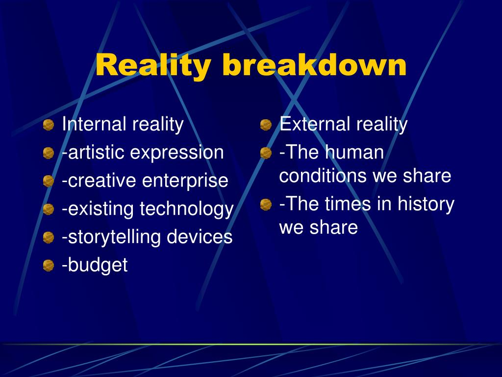 Internal reality