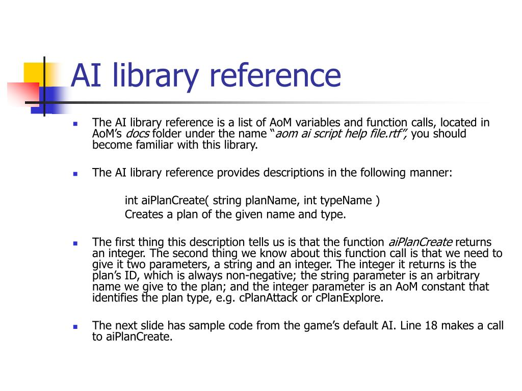AI library reference