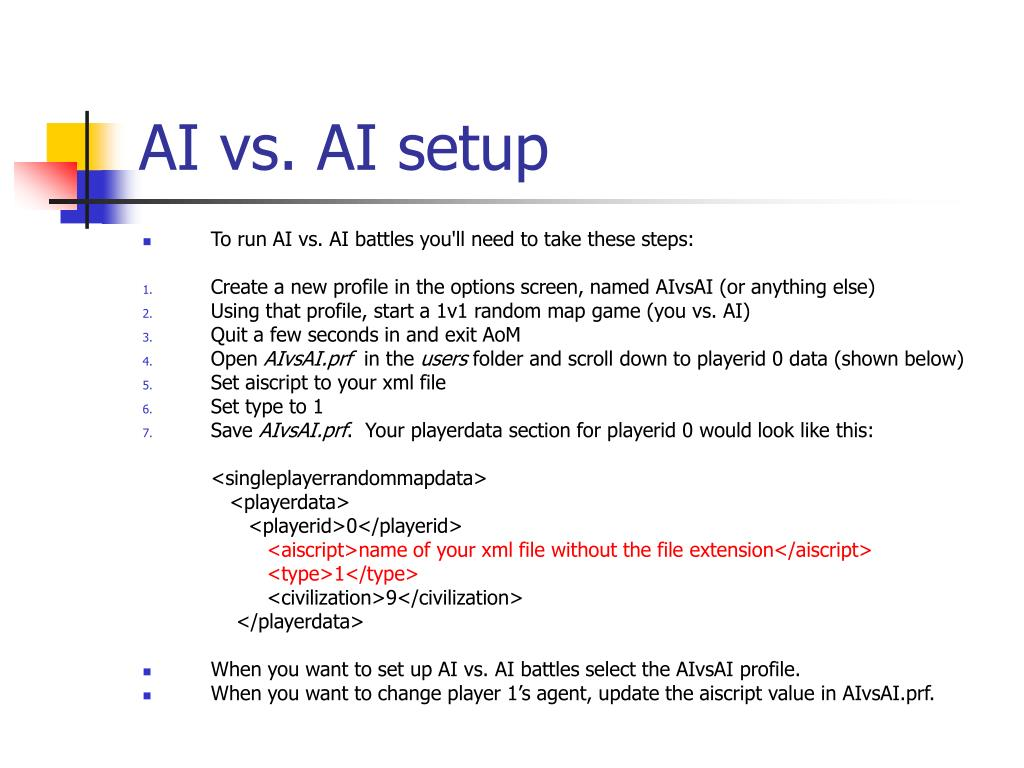AI vs. AI setup