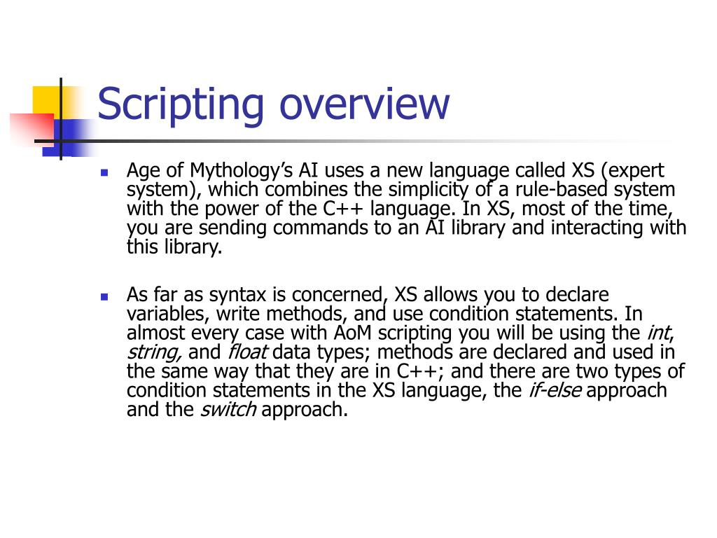 Scripting overview