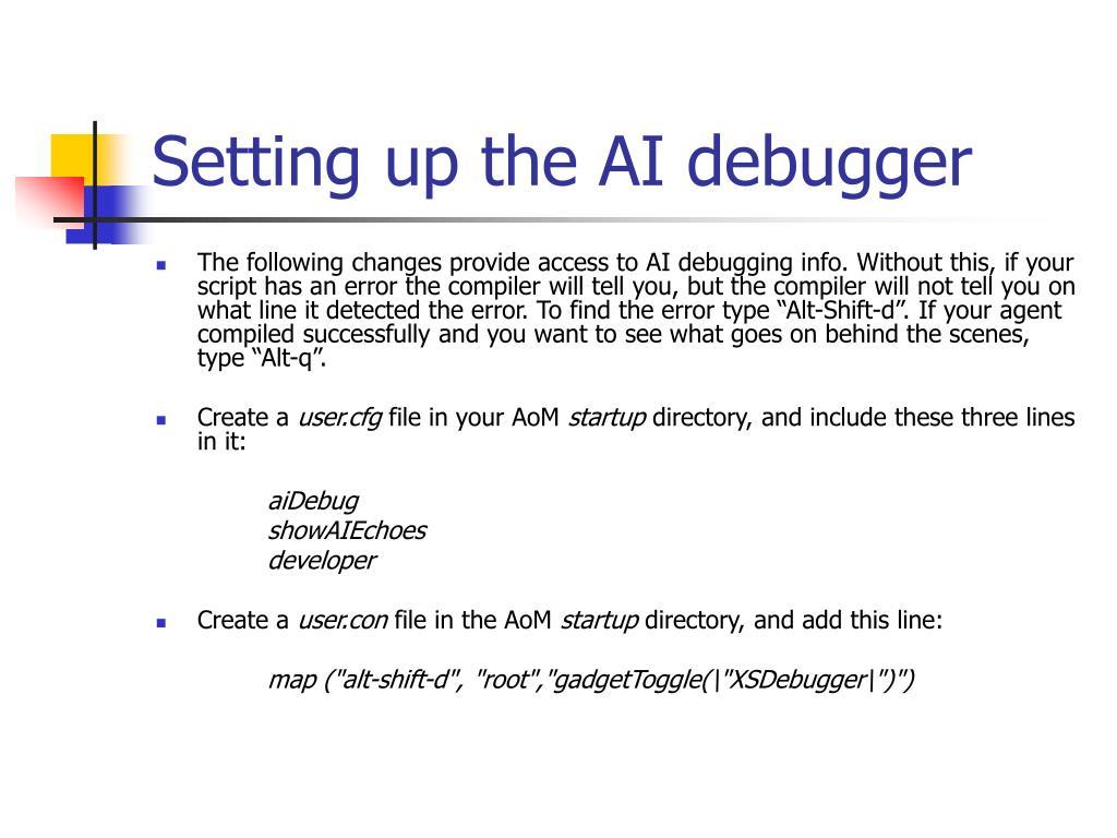 Setting up the AI debugger