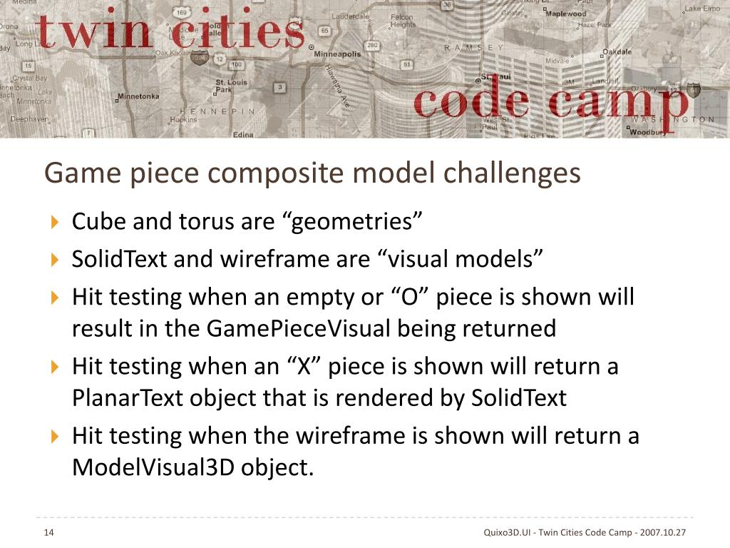Game piece composite model challenges