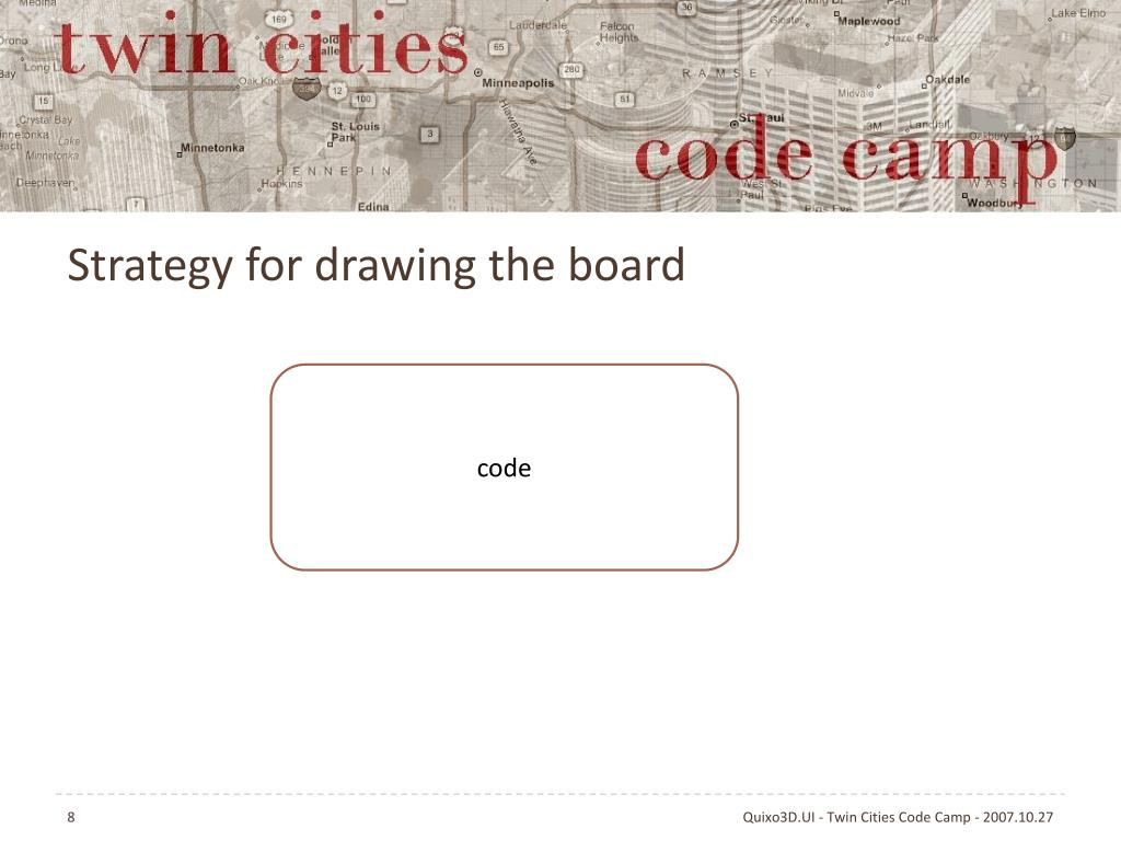 Strategy for drawing the board