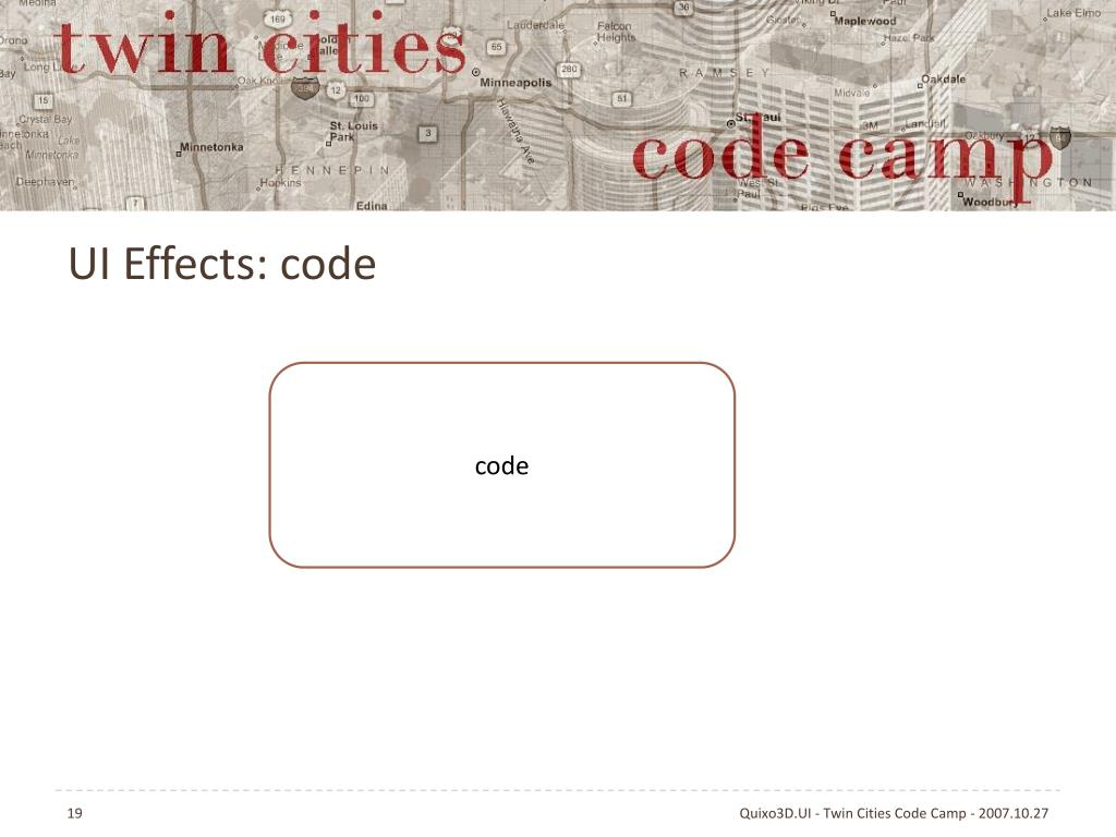 UI Effects: code