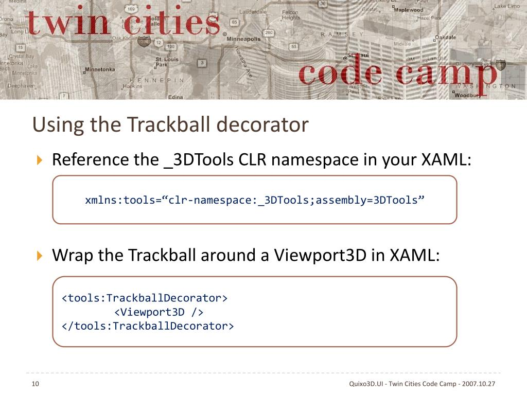 Using the Trackball decorator