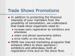 trade shows promotions