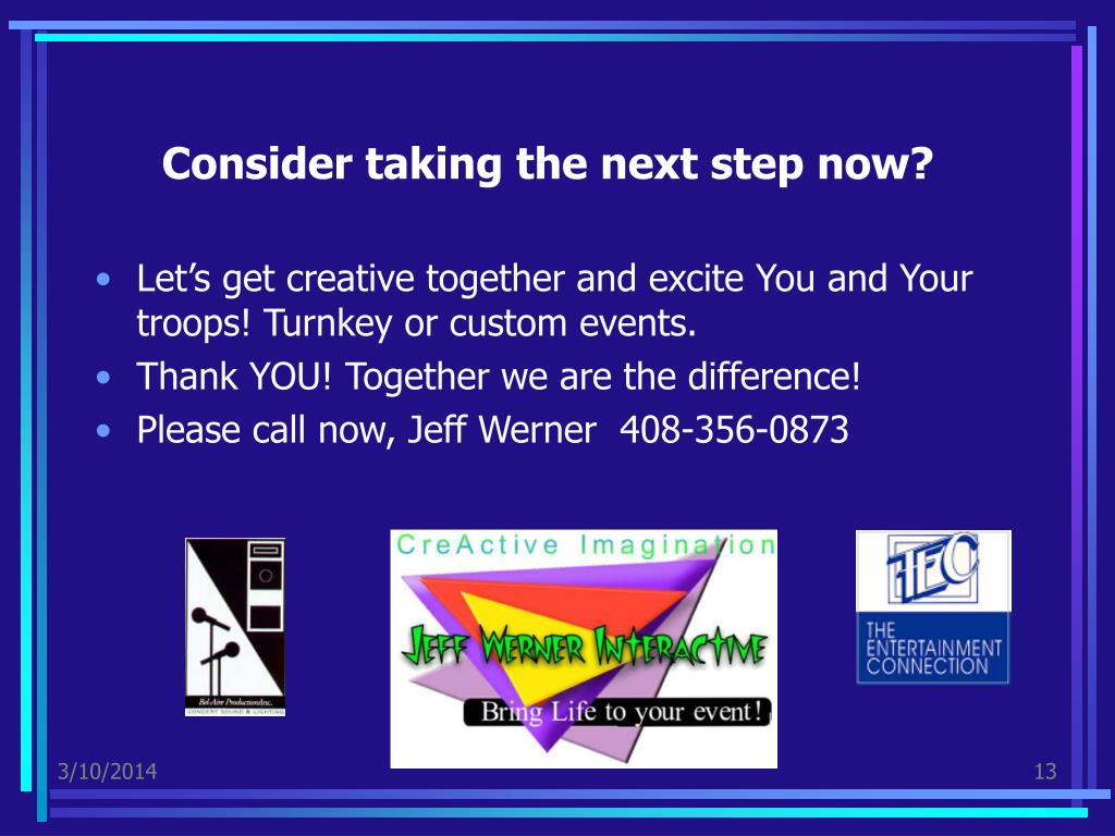 Consider taking the next step now?