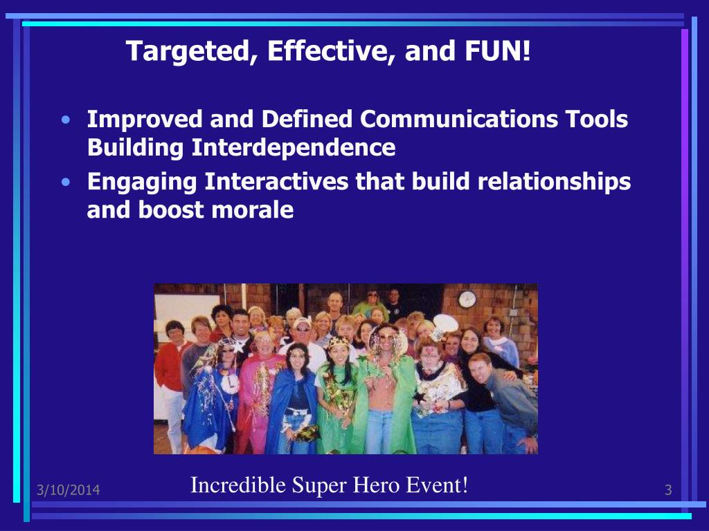 Targeted, Effective, and FUN!