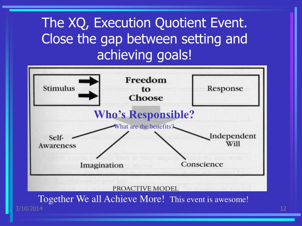 The XQ, Execution Quotient Event.