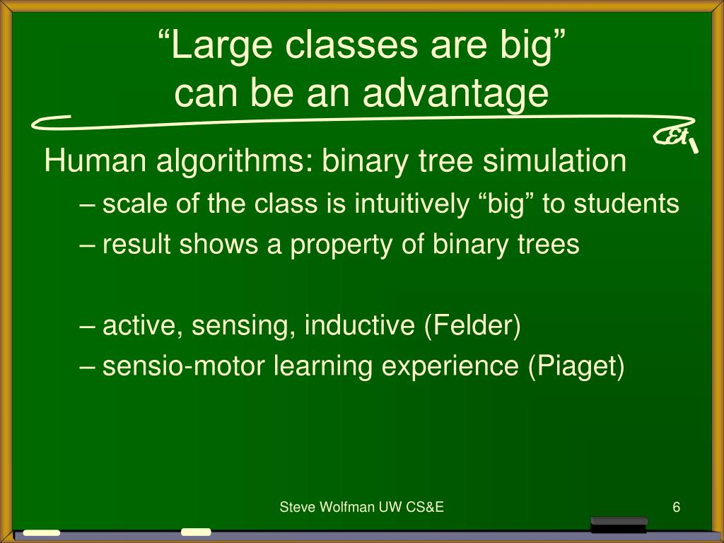 """""""Large classes are big"""""""