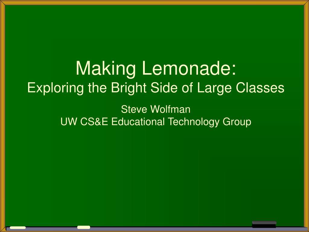 Making Lemonade: