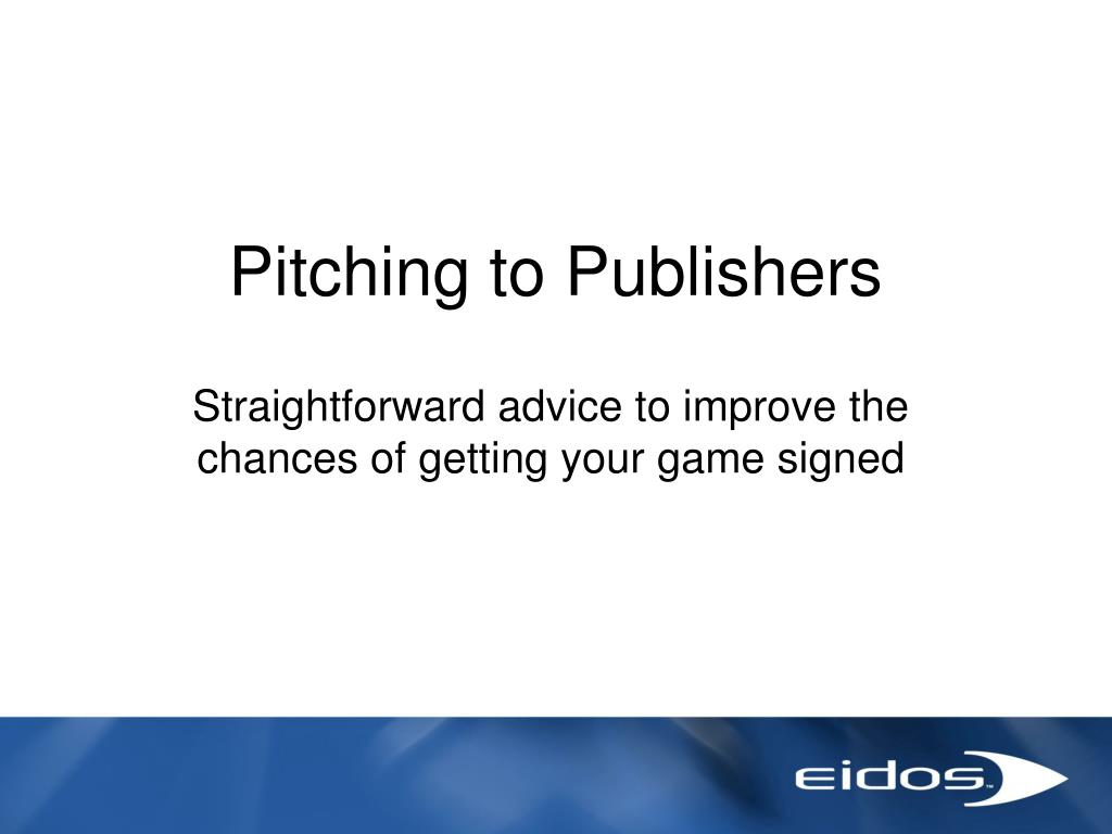 Pitching to Publishers
