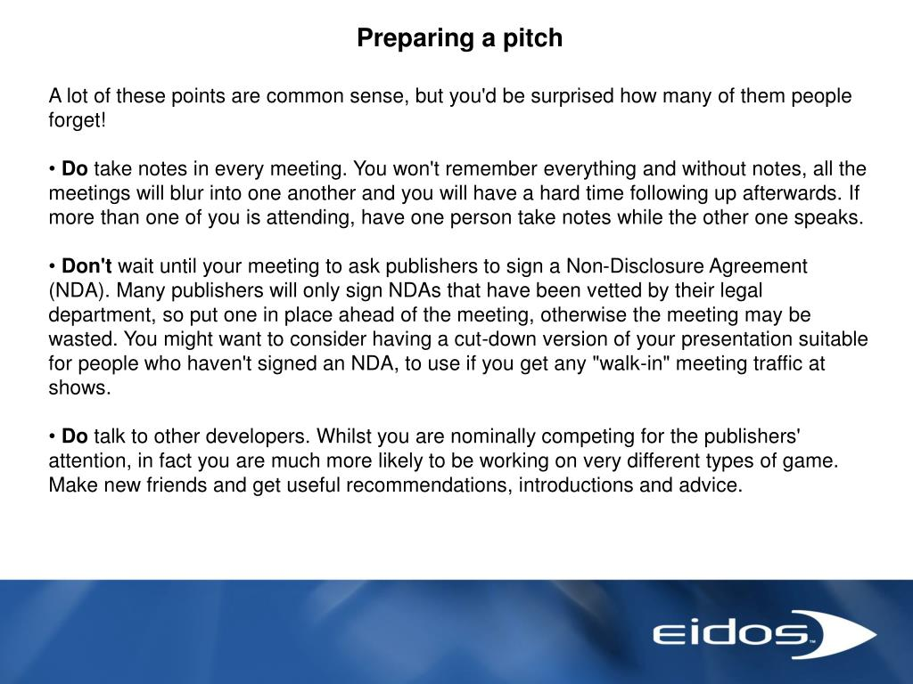 Preparing a pitch