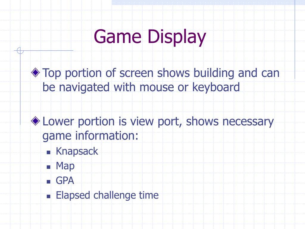 Game Display