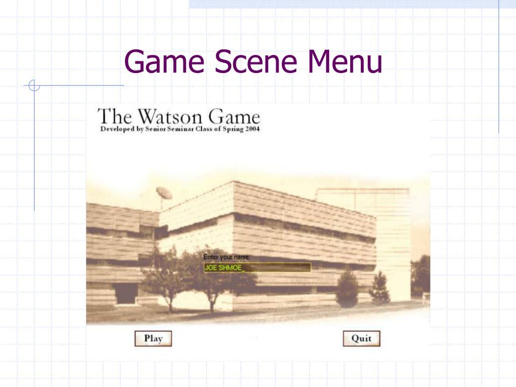Game Scene Menu